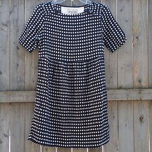 ace & jig black/white dots dress S